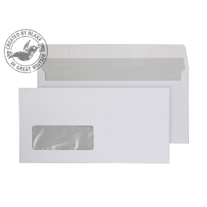 Purely Everyday Wallet P&S Window Bright White 120gsm DL 110x220 Ref ENV12 Pk 500 10 Day Leadtime