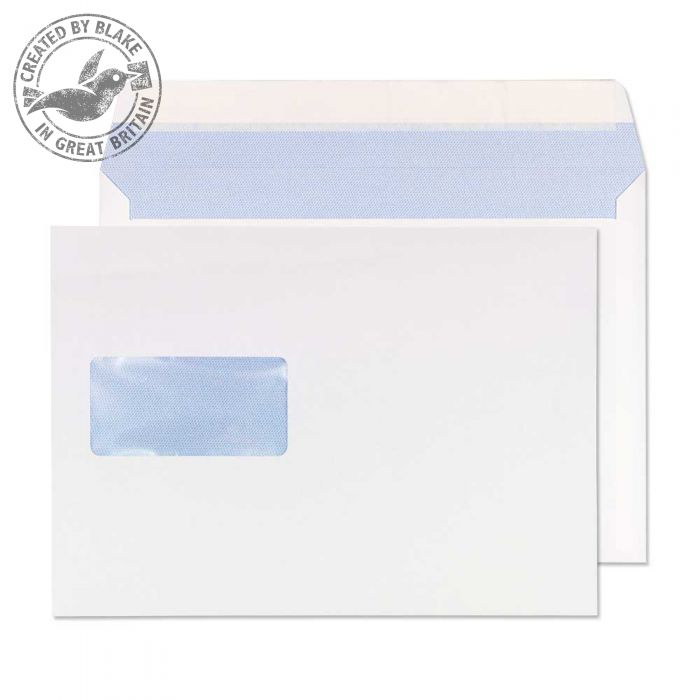 Purely Everyday Wallet P&S Window White 176x250mm 90gsm Ref 5504 [Pack 500] *10 Day Leadtime*