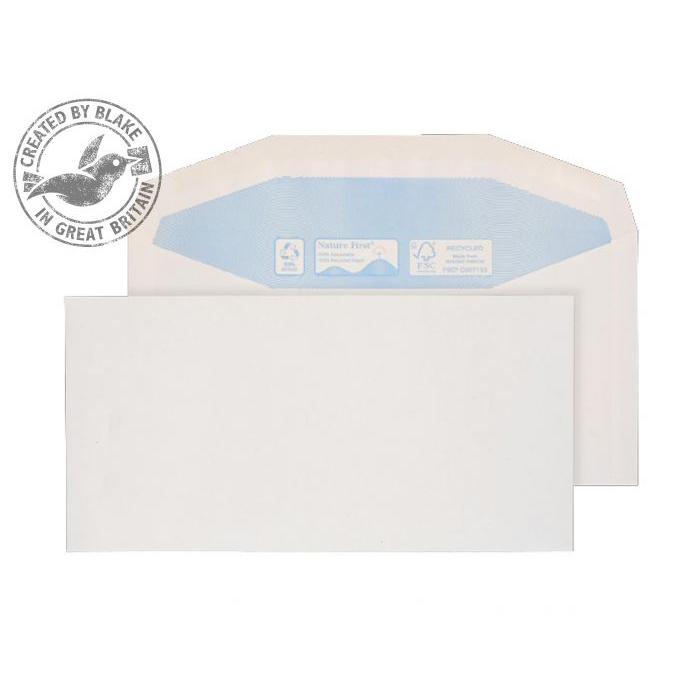 Purely Environmental Mailer Gummed White 90gsm DL+ 114x229mm Ref RN0012 Pk 1000 *10 Day Leadtime*