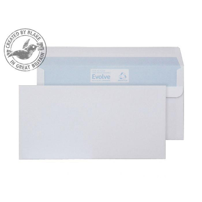 Blake Purely Environmental DL Wallet Self Seal 90gsm White Ref RD7882 Pack 1000 *3to5 Day Leadtime*
