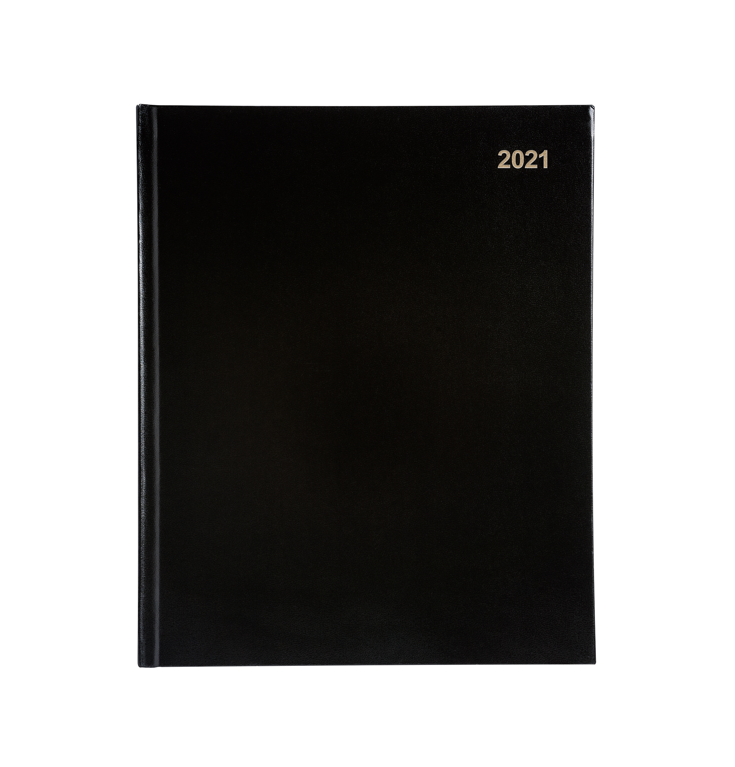 Diaries 5 Star Office 2021 Quarto Diary Week to View Casebound and Sewn Vinyl Coated Board 220x270mm Black