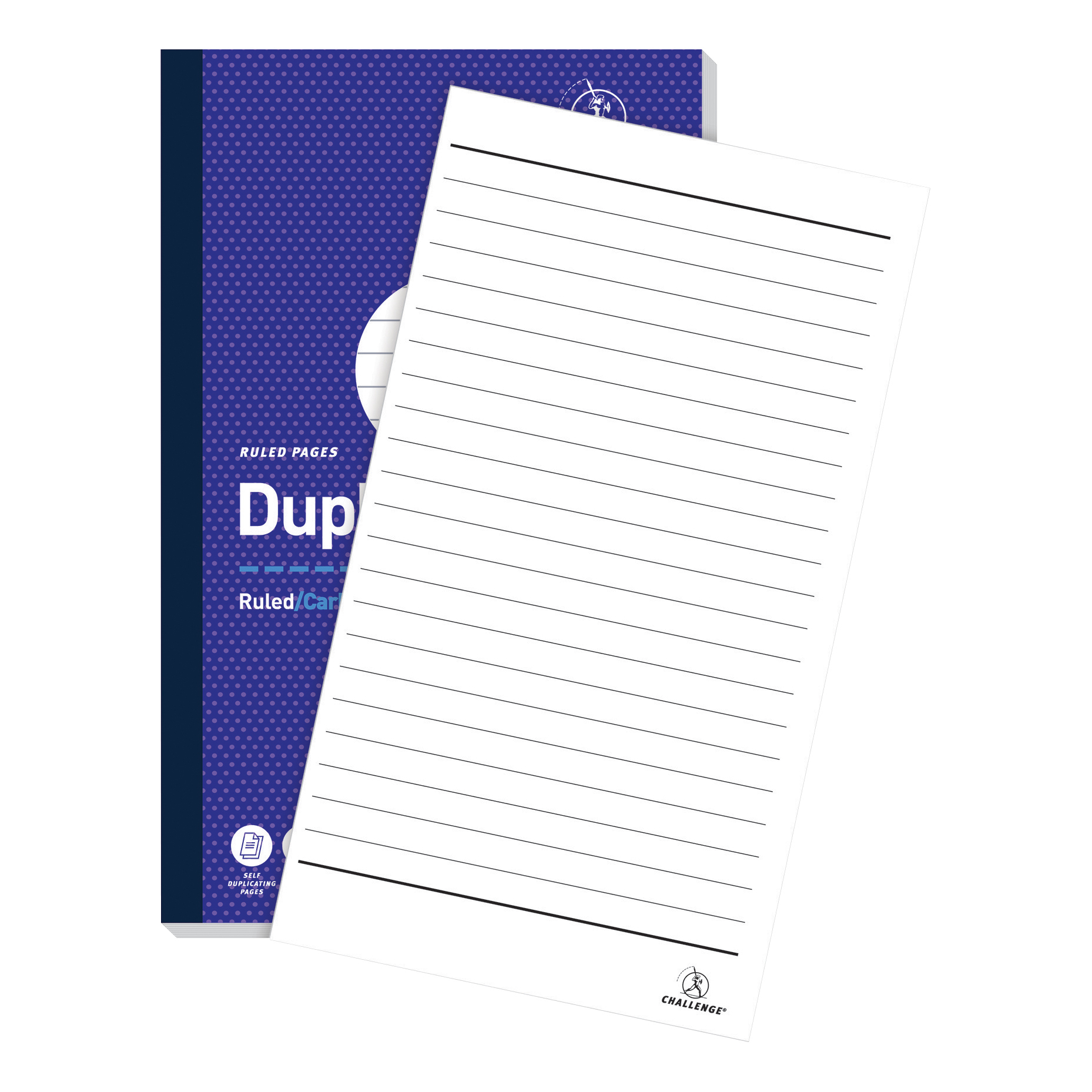 Duplicate Challenge Duplicate Book Carbonless Ruled 100 Sets 210x130mm Ref 100080458 Pack 5
