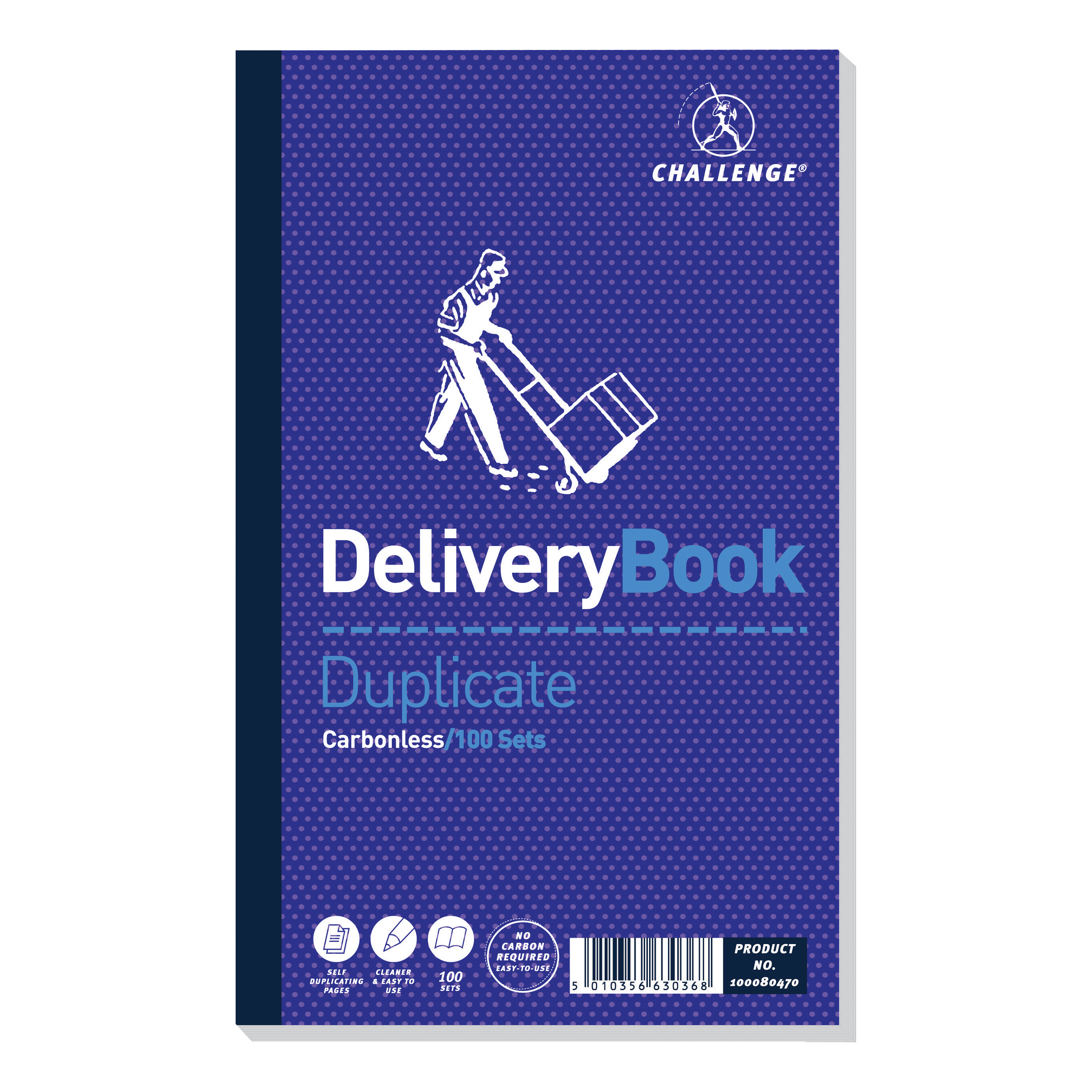 Challenge Duplicate Book Carbonless Delivery Book 100 Sets 210x130mm Ref 100080470 Pack 5