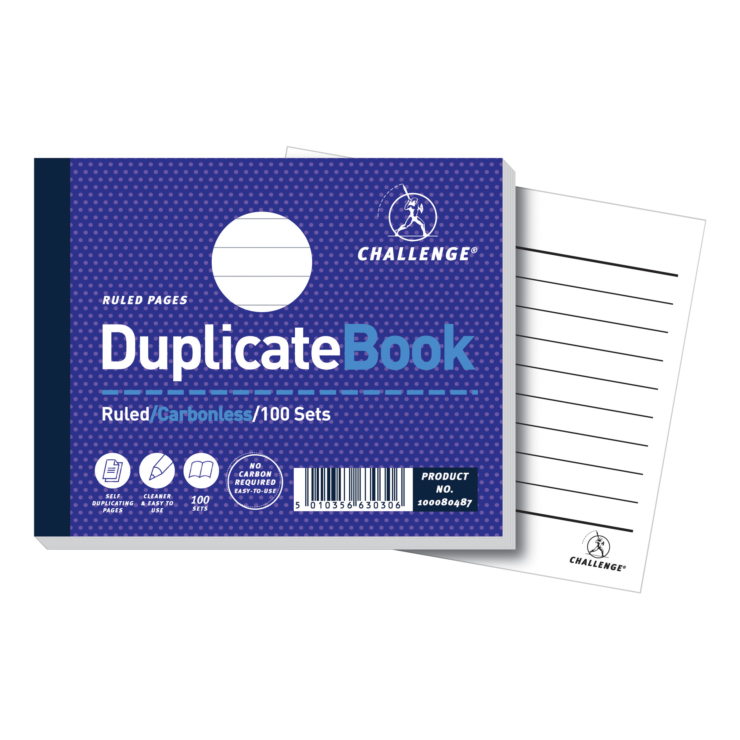 Duplicate Challenge Duplicate Book Carbonless Ruled 100 Sets 105x130mm Ref 100080487 Pack 5