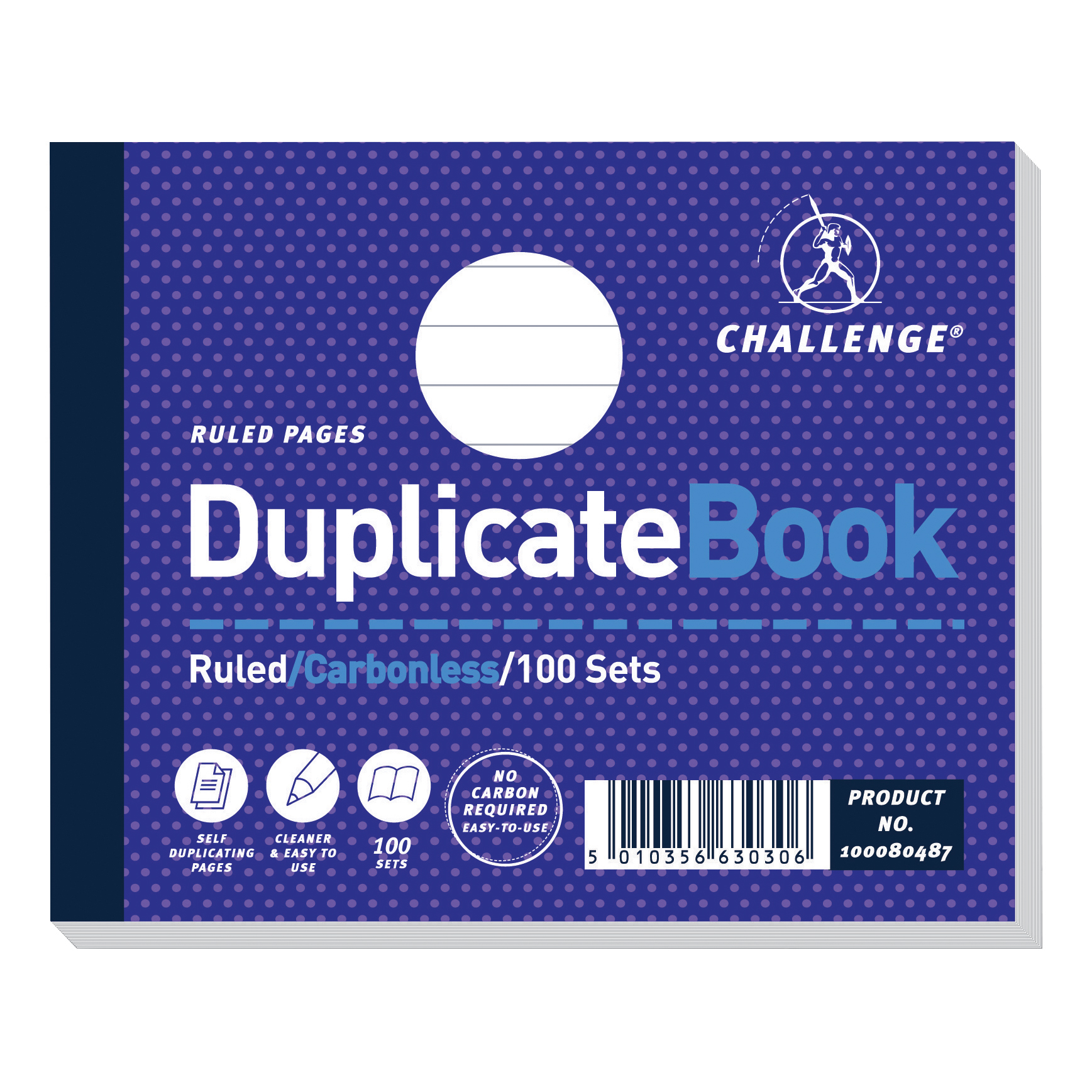 Challenge Duplicate Book Carbonless Ruled 100 Sets 105x130mm Ref 100080487 Pack 5