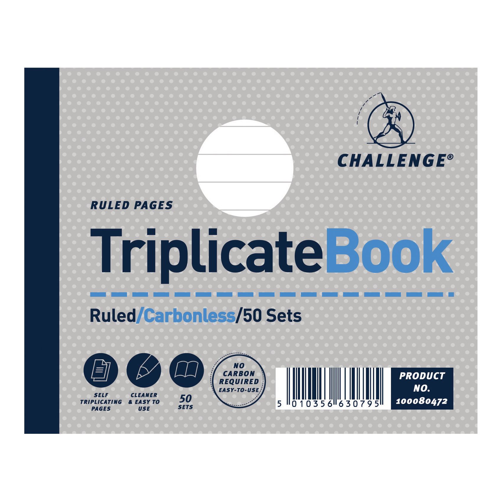 Challenge Triplicate Book Carbonless Wirebound Ruled 50 Sets 105x130mm Ref 100080472 Pack 5