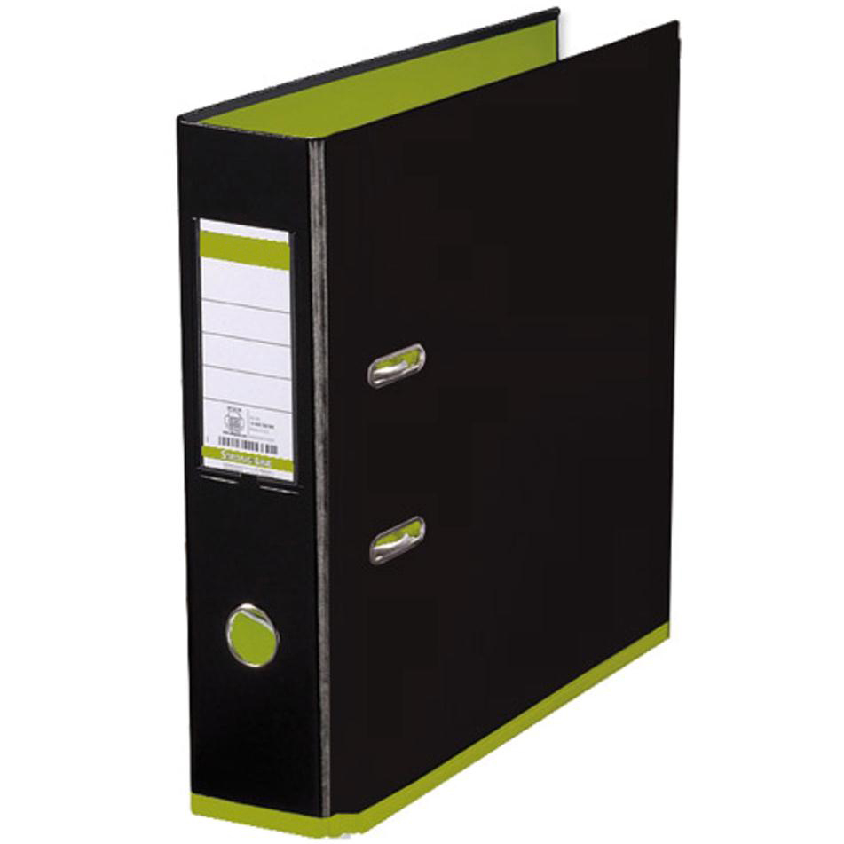 Lever Arch Files Oxford MyColour Lever Arch File Polypropylene Capacity 80mm A4+ Black & Lime Ref 100081036