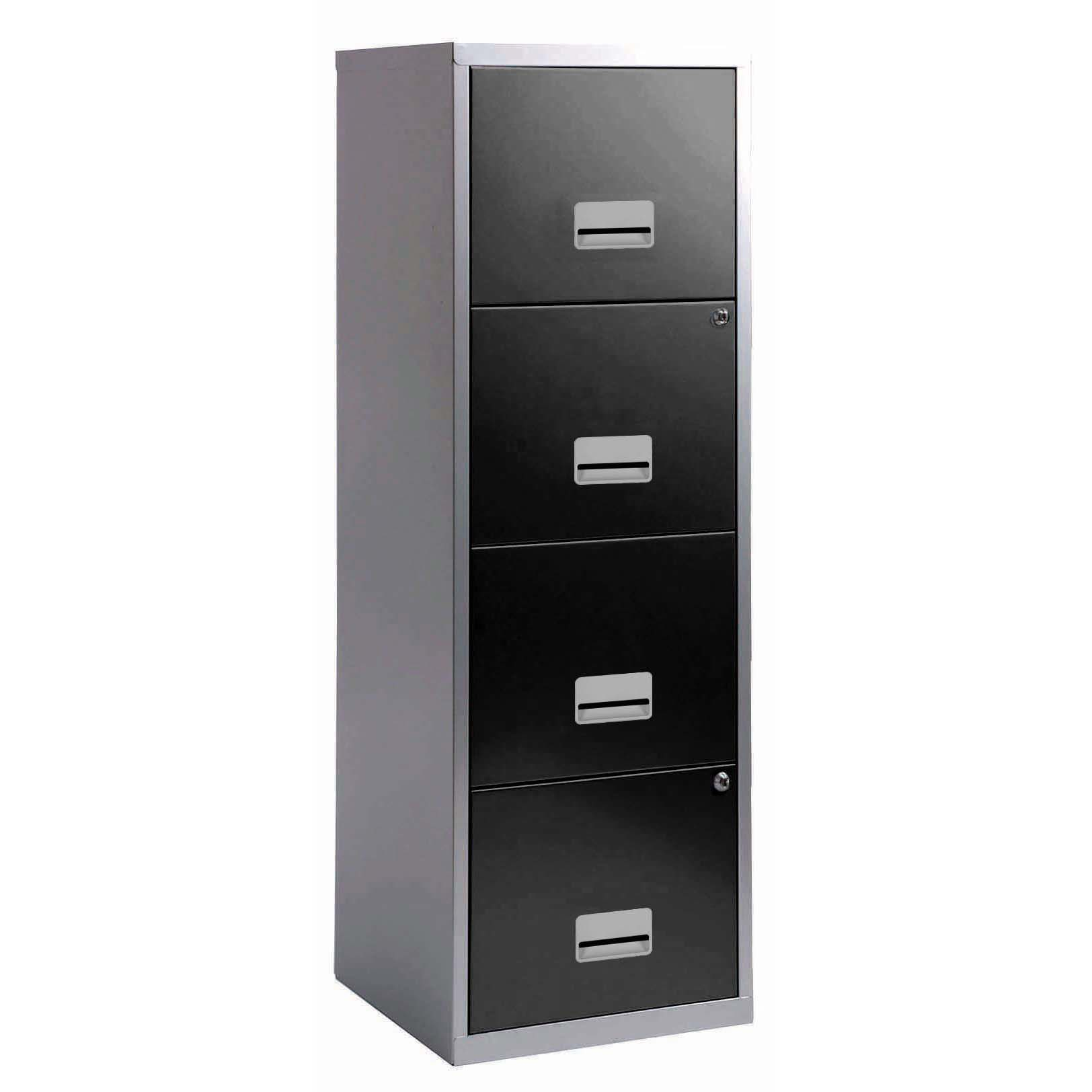 Filing cabinets or accesories Filing Cabinet Steel 4 Drawer A4 400x400x1250mm Ref 95809