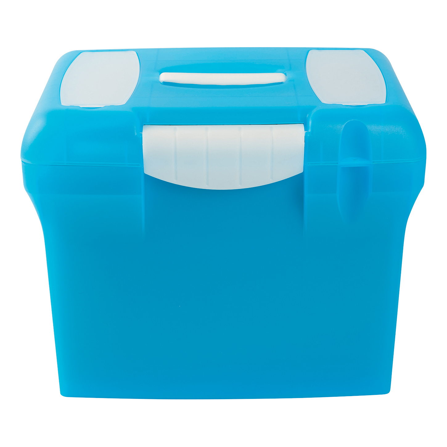 File Box with Suspension Files and Index Tabs Plastic A4 Blue