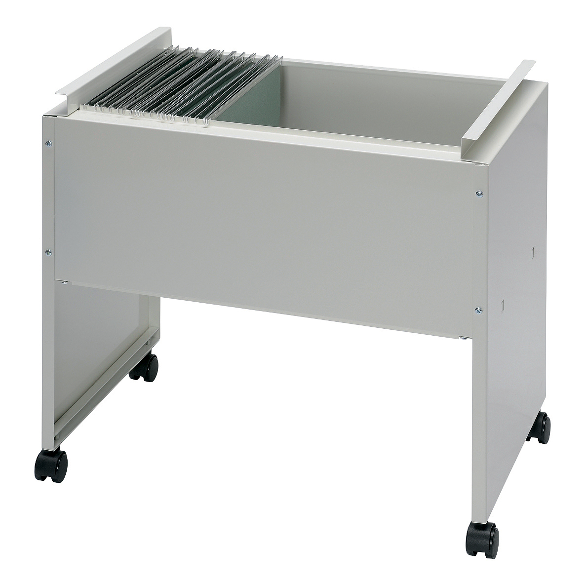 Trolleys or accessories Universal Filing Trolley Steel Capacity 120 A4 or Foolscap Susp Files W650xD420xH580mm Grey