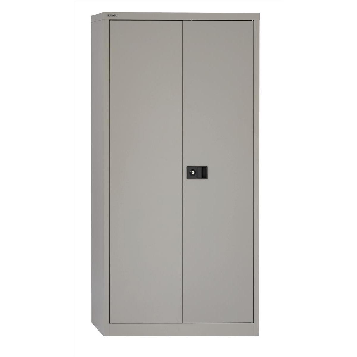 Storage cabinets Trexus Two Door Steel Storage Cupboard 914x400x1806mm Grey Ref 395017