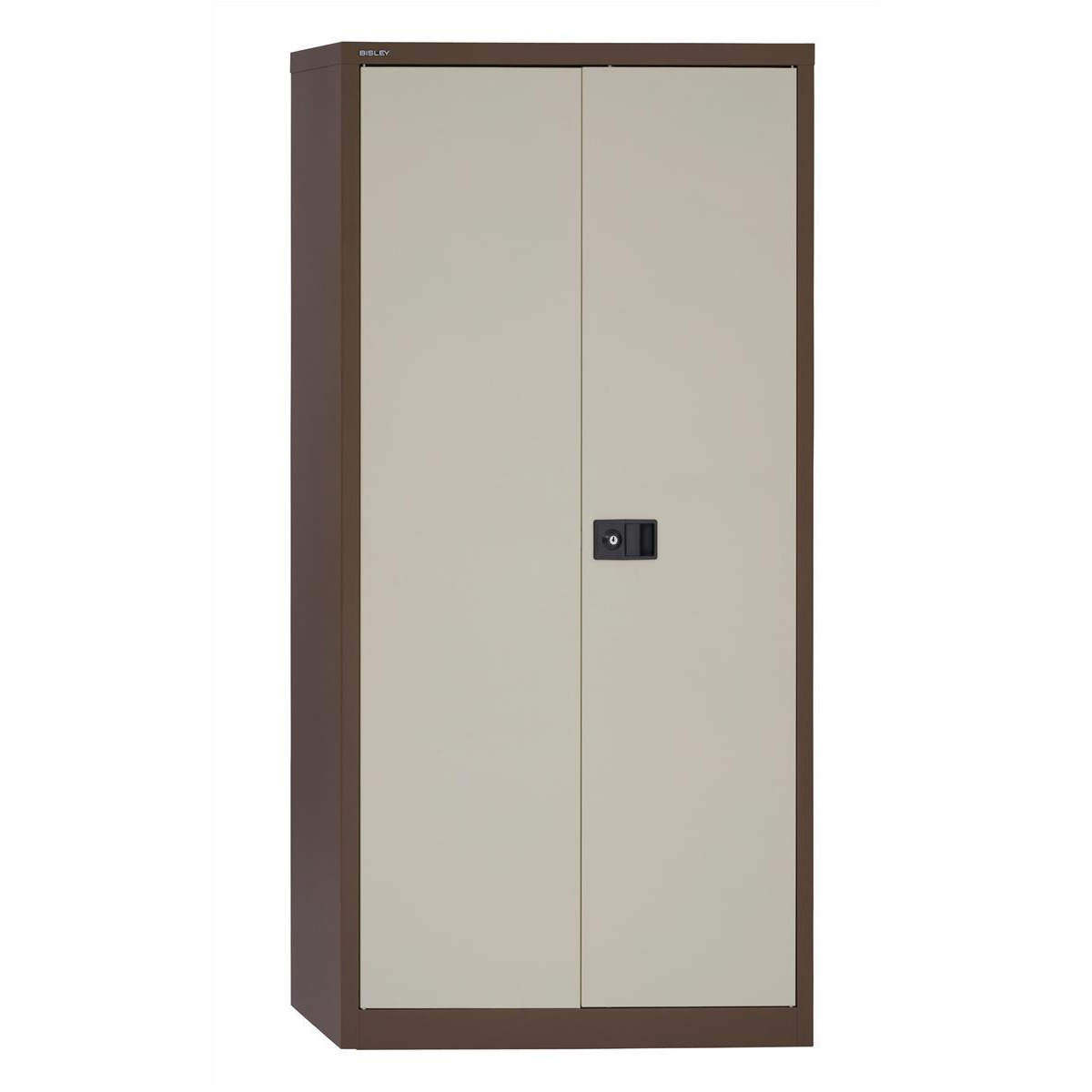 Trexus Two Door Steel Storage Cupboard 914x400x1806mm Coffee/​Cream Ref 395025