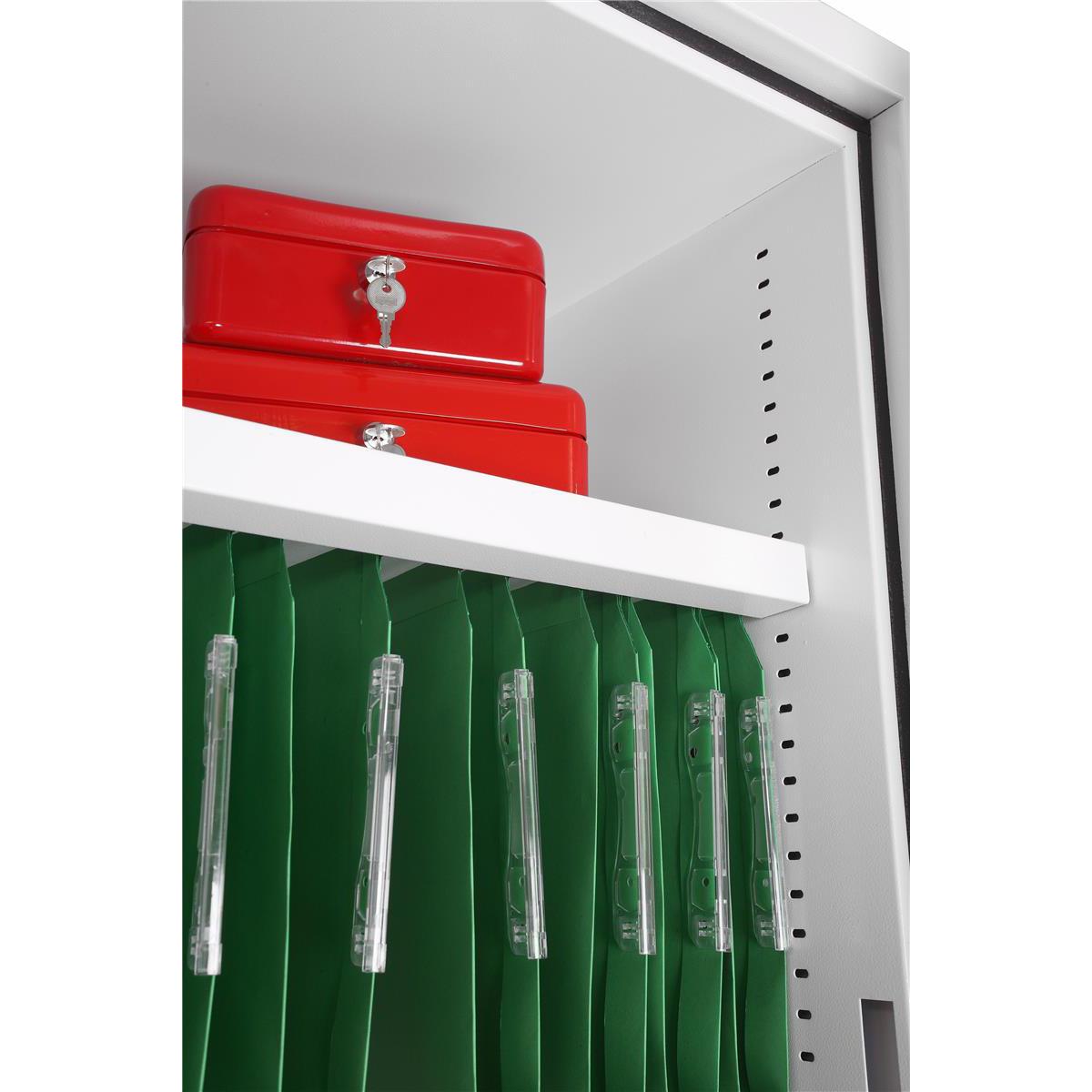 Phoenix Fire Ranger Steel Storage Cupboard Fire and Burglary Resistant W600xD520x1225mm Ref FS1511K