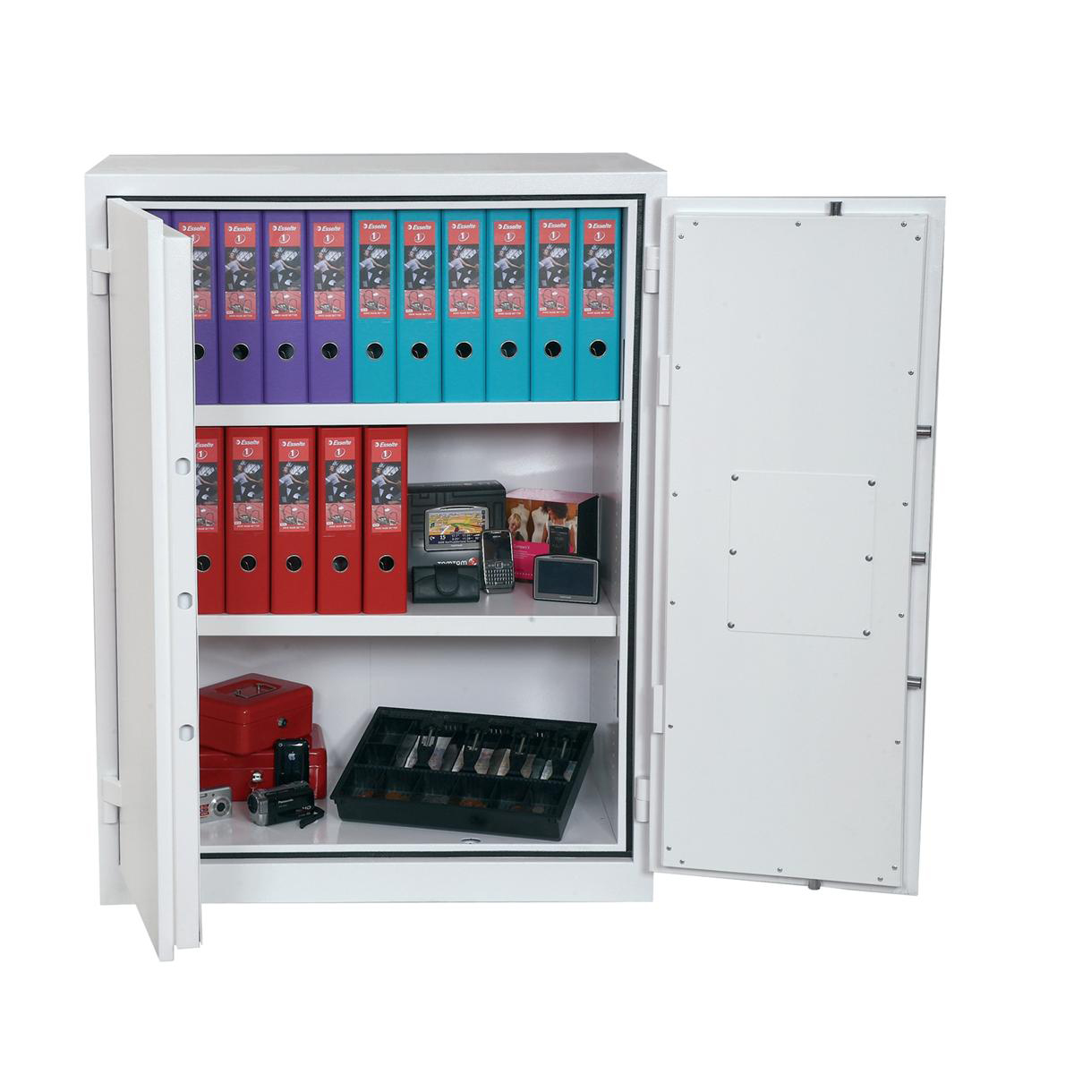 Safes Phoenix Fire Ranger Steel Storage Cupboard Fire and Burglary Resistant W935xD520x1225mm Ref FS1512K