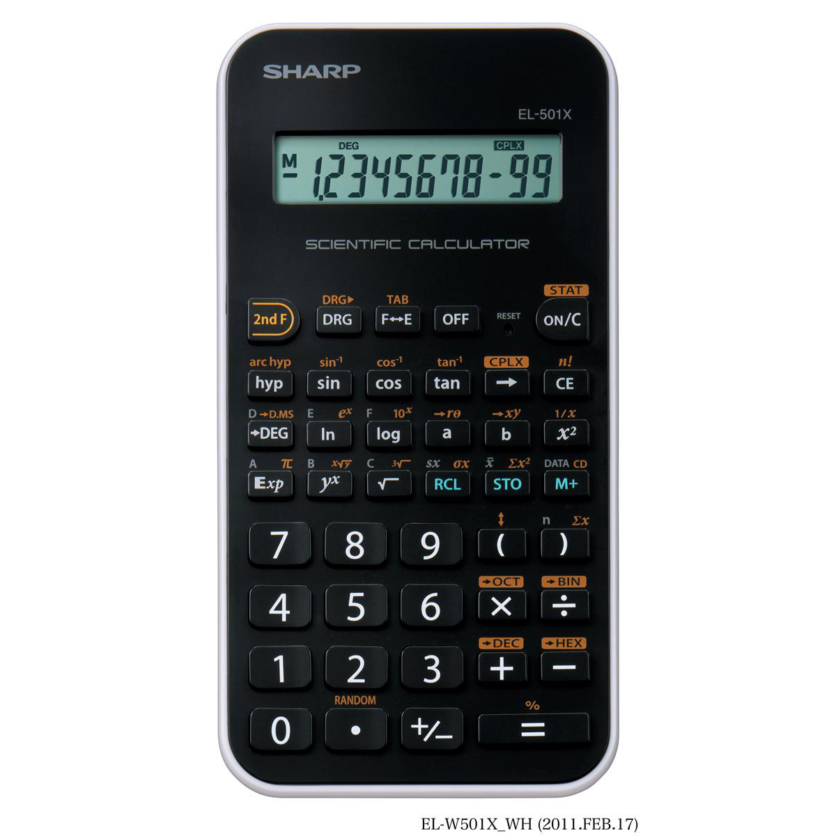 Sharp Junior Handheld Scientific Calculator 10 Digit Battery Power 75x10x144mm Black Ref EL-501X