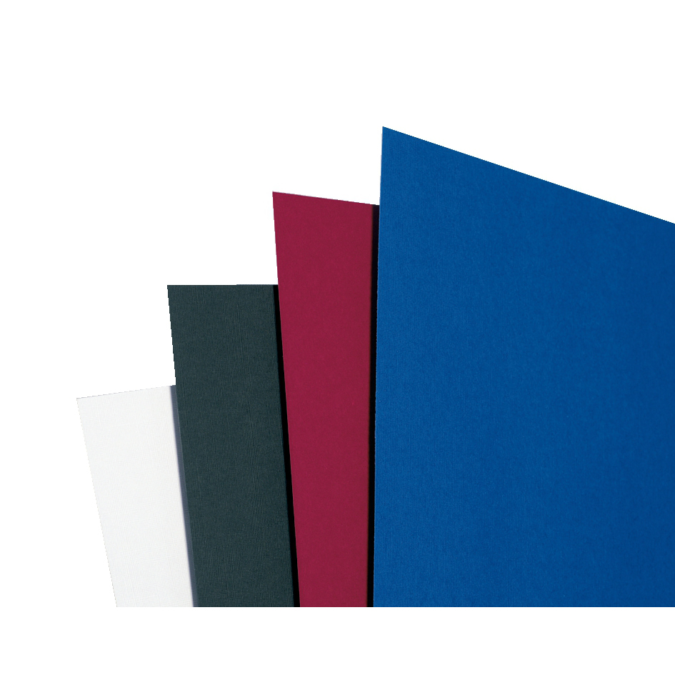 GBC Binding Covers Textured Linen Look 250gsm A4 White Ref CE050070 Pack 100