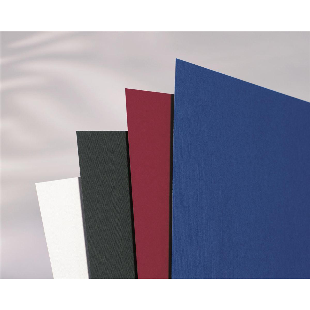 GBC Binding Covers Textured Linen Look 250gsm A4 Blue Ref CE050029 Pack 100