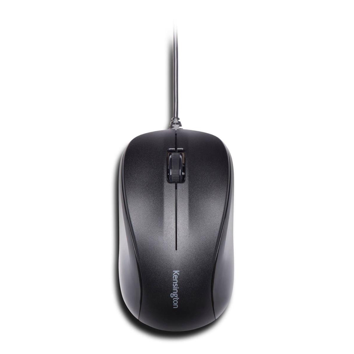Wireless Kensington ValuMouse Wired Optical Three-Button Mouse USB Optical 1000dpi Both Handed Black Ref K72110EU