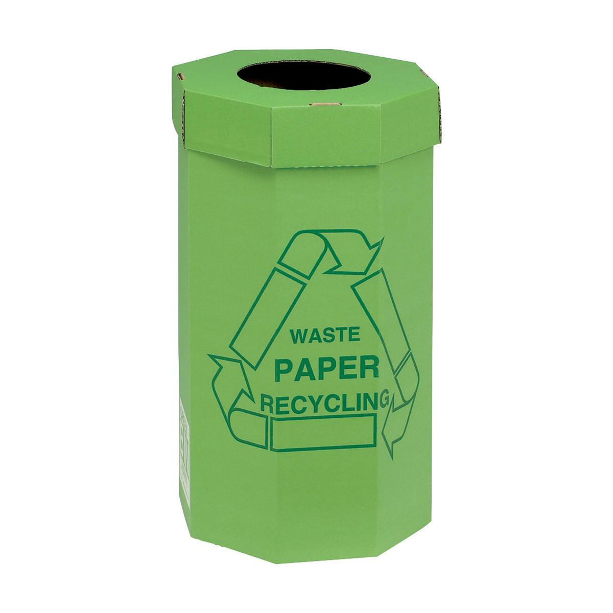 Recycling Bins Acorn Green Bin for Recycling Waste Capacity of 60 Litres 360x677mm Green Ref 402565 Pack 5