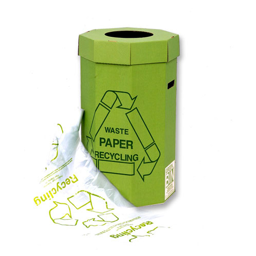 Acorn Green Bin for Recycling Waste Capacity of 60 Litres 360x677mm Green Ref 402565 Pack 5