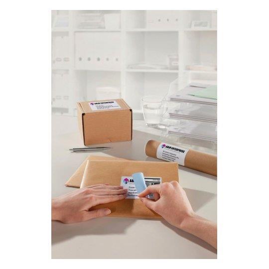 Avery Parcel Labels Laser Jam-free 2 per Sheet 199.6x143.5mm Opaque White Ref L7168-250 500 Labels