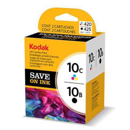 Kodak 10B/10C Inkjet Cartridge Black Page Life 425pp 14ml/Tri-Colour 420pp 12ml Ref 3949948 Pack 2