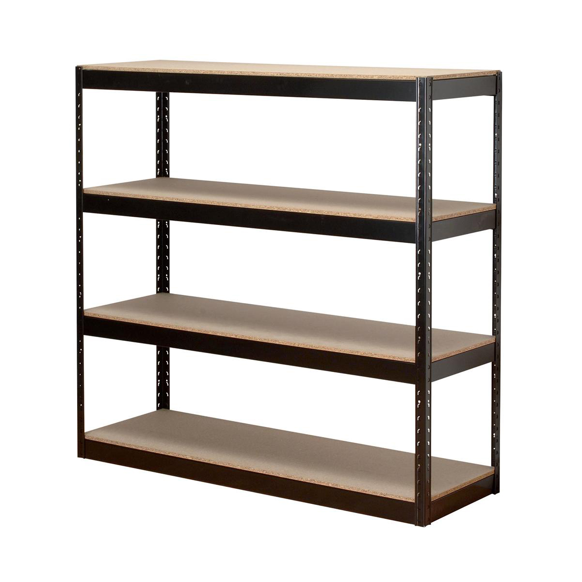 Influx Archive Shelving Unit Heavy-duty Boltless 4 Shelves Capacity 4x 100kg W1320xD450xH1315mm Black