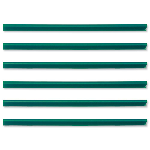 Spine Bars for 60 Sheets A4 Capacity 6mm Green Pack 50