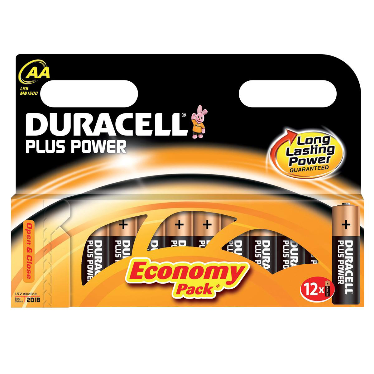 Duracell Plus Power Battery Alkaline 1.5V AA Ref 81275378 Pack 12