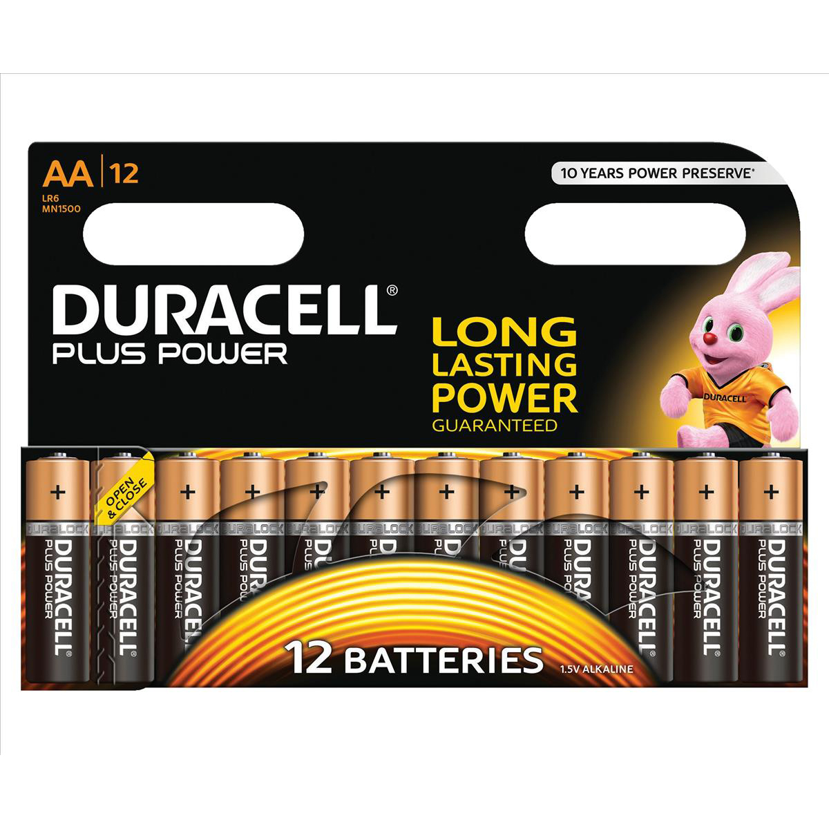 Duracell Plus Power Battery Alkaline 1.5V AA Ref 81275378 [Pack 12]