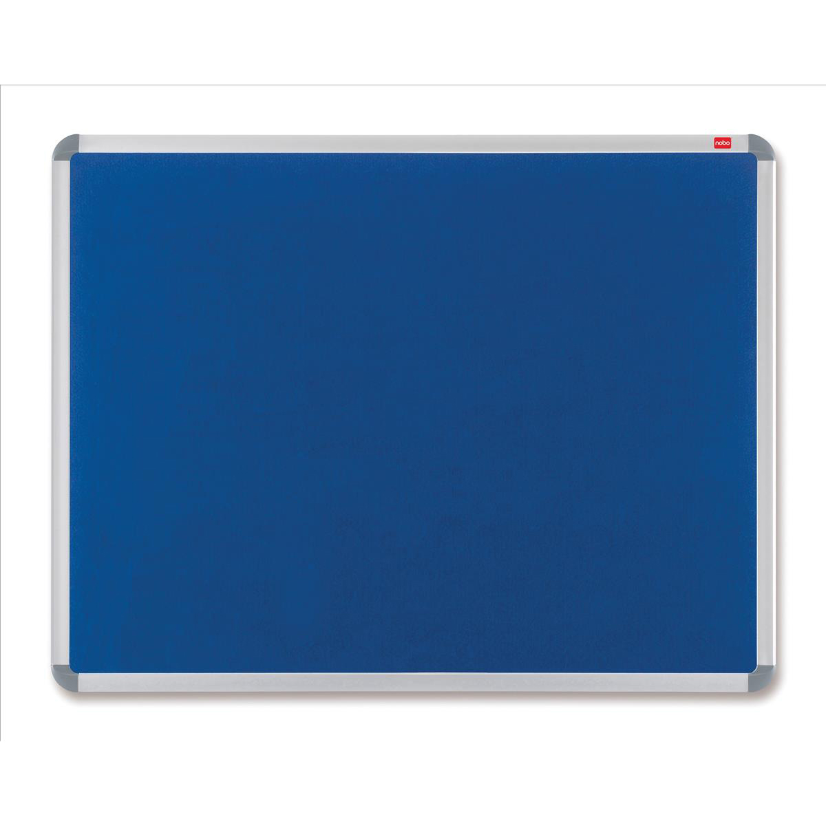 Nobo Prestige Felt Noticeboard with Fixings and Aluminium Frame W1500xH1000mm Blue Ref 30234148