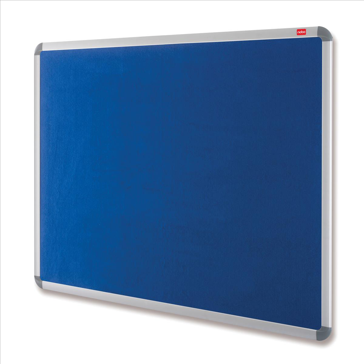 Image for **Nobo EuroPlus Felt Noticeboard with Fixings and Aluminium Frame W1500xH1000mm Blue Ref 30234148