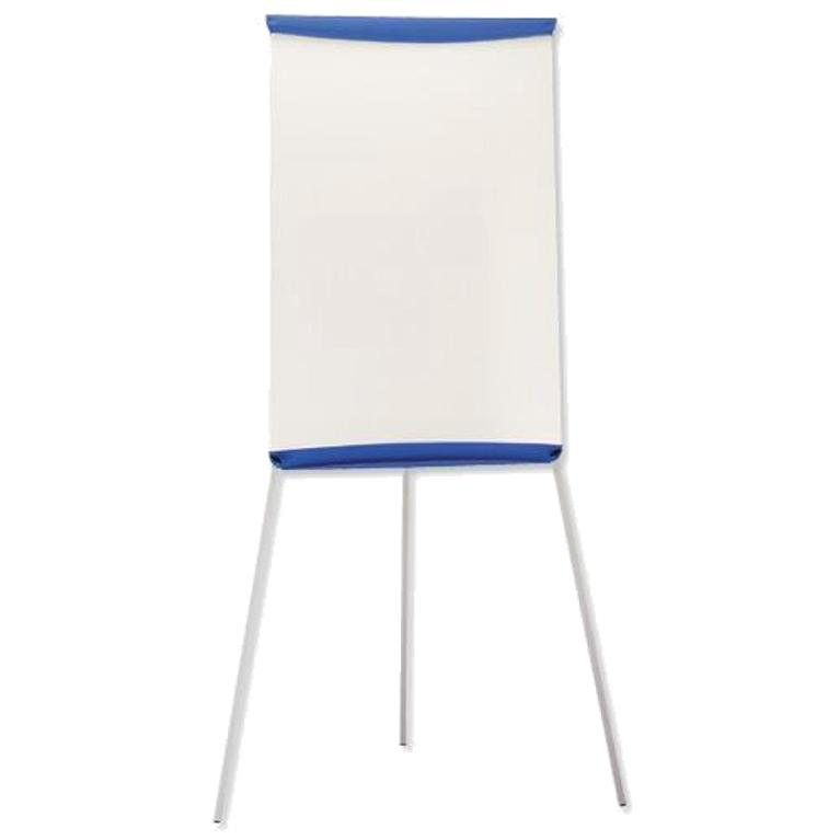 5 Star Office Flipchart Easel with W670xH990mm Board W700xD82xH1900mm Blue Trim