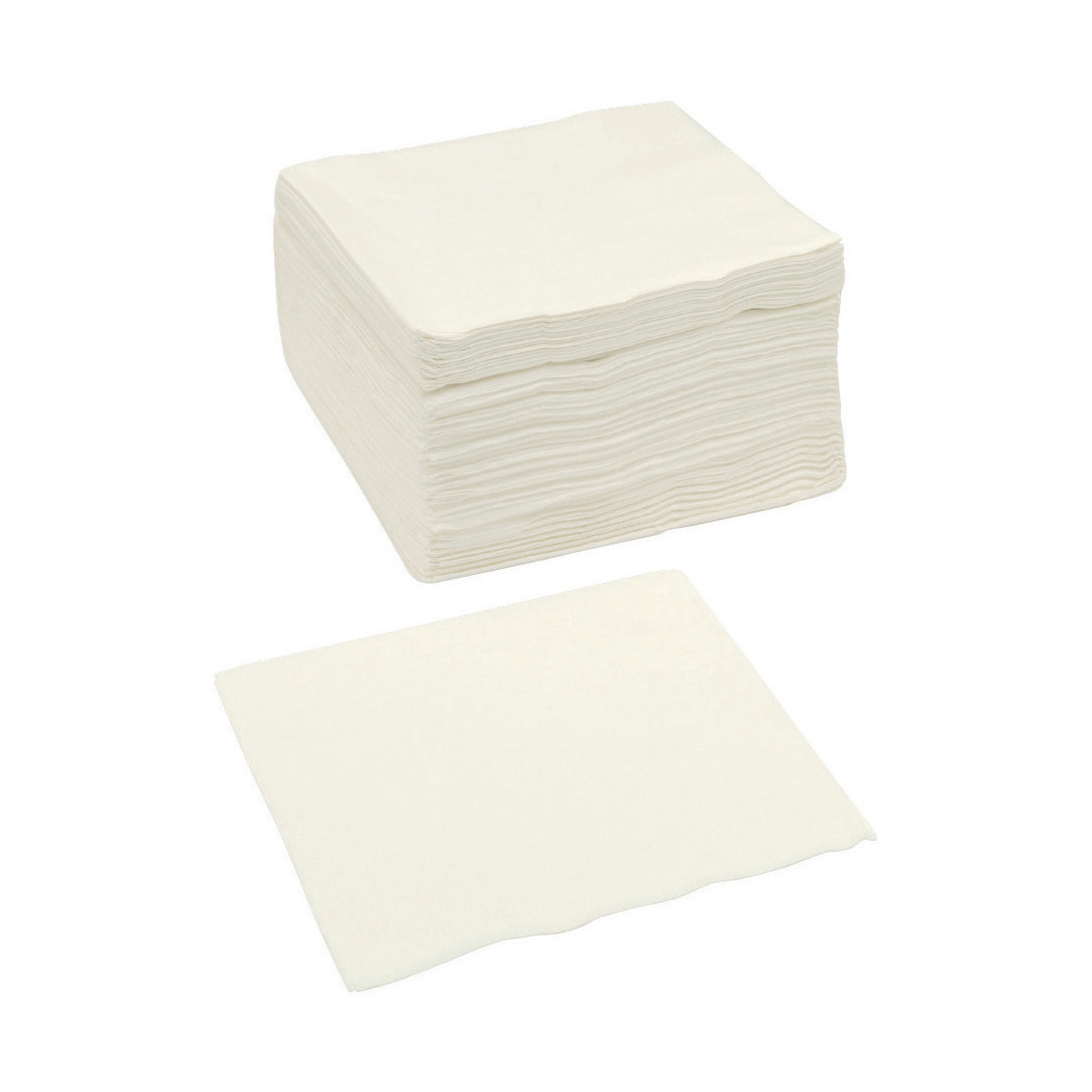 Paper Napkins Square 2 Ply 400x400mm White Pack 250