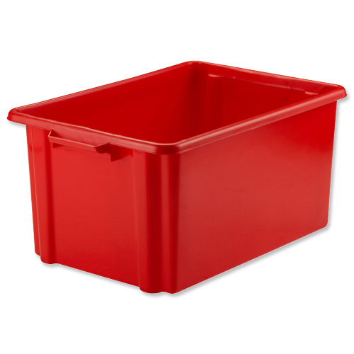 Strata Storemaster Jumbo Crate External W560xD385xH280mm 48.5 Litres Red Ref HW48
