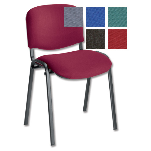 Trexus Stacking Chair Black Frame Red 470x420x500mm Ref T0477A008