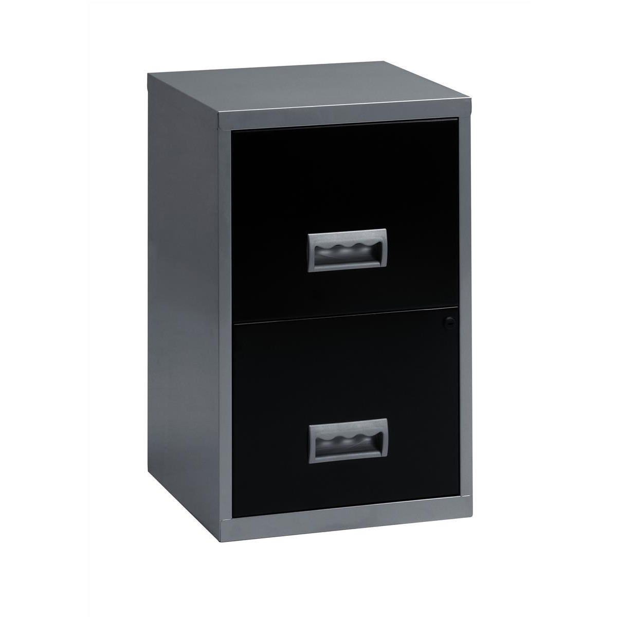 Filing Cabinet Steel 2 Drawer A4 400x400x660mm Ref 95808
