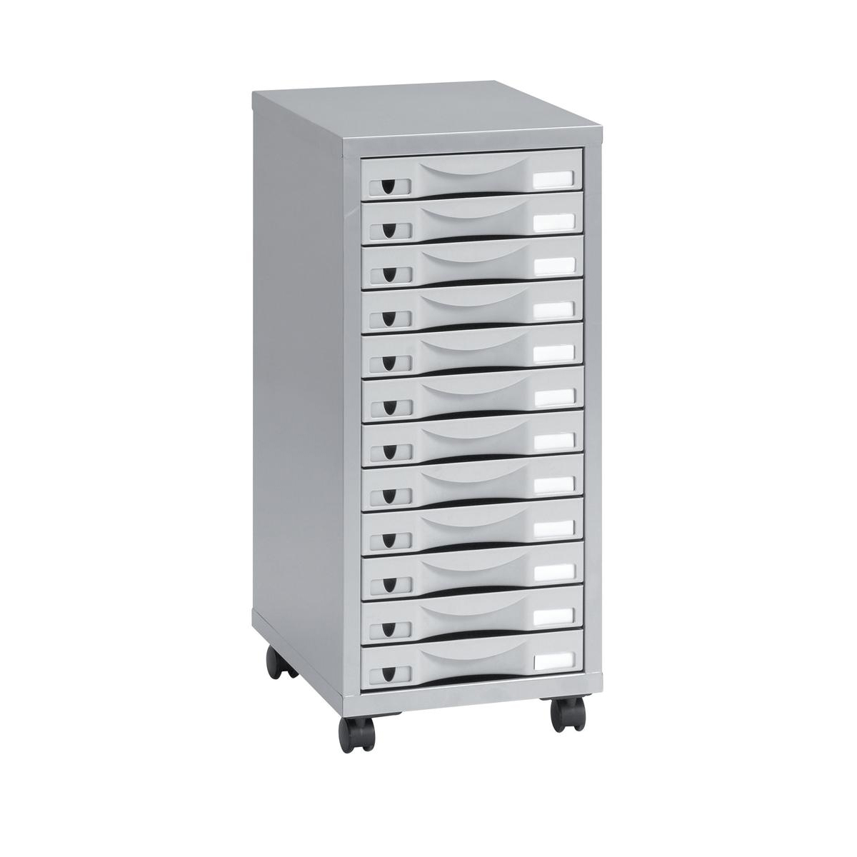 Filing cabinets or accesories Pierre Henry 12 Drawer Multidrawer 300x390x710mm Silver Grey Ref 95072