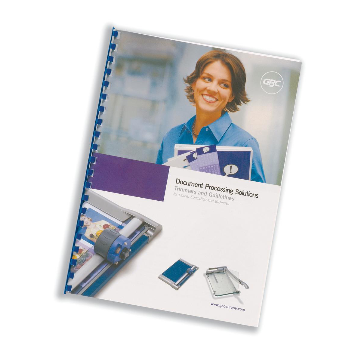 Cover Boards GBC Report Covers Front PVC A4 Clear and Back A4 Leathergrain White Ref CR140070 Pack 25x2
