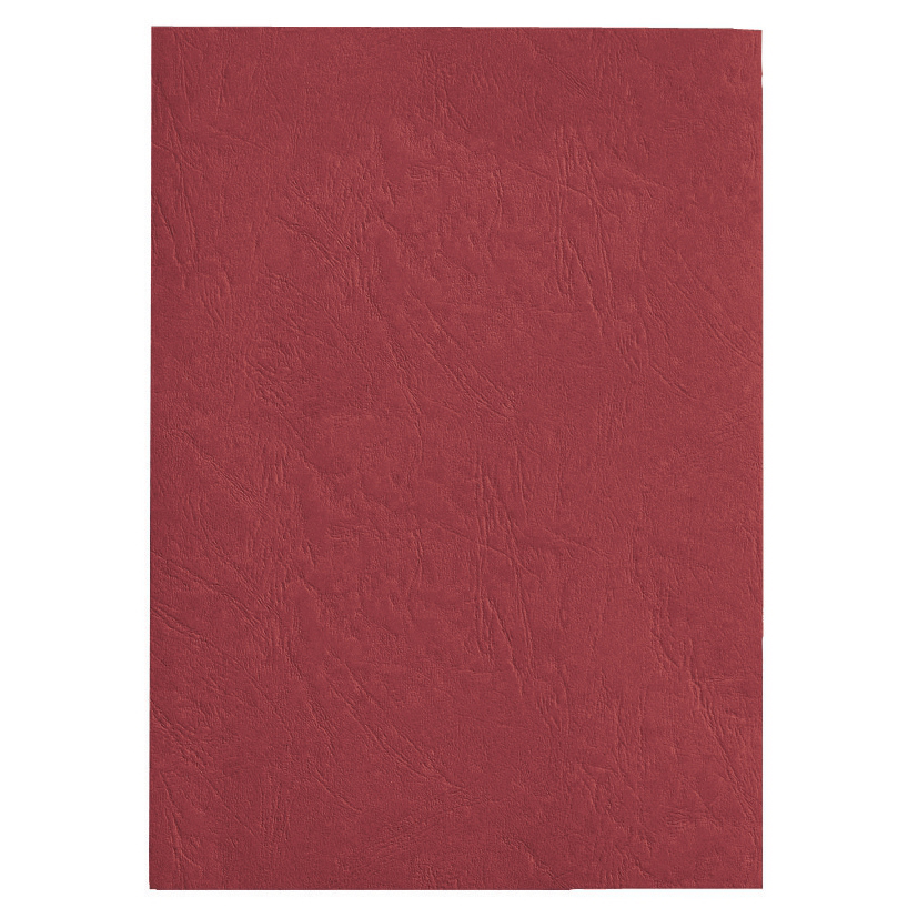 GBC Antelope Binding Covers Leather-look Plain A4 Red Ref CE040030 [Pack 100]