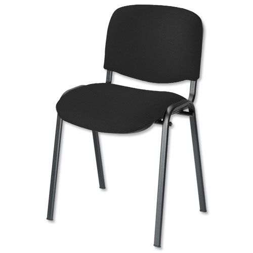 Trexus Stacking Chair Black Frame Black 480x420x500mm Ref SP438150