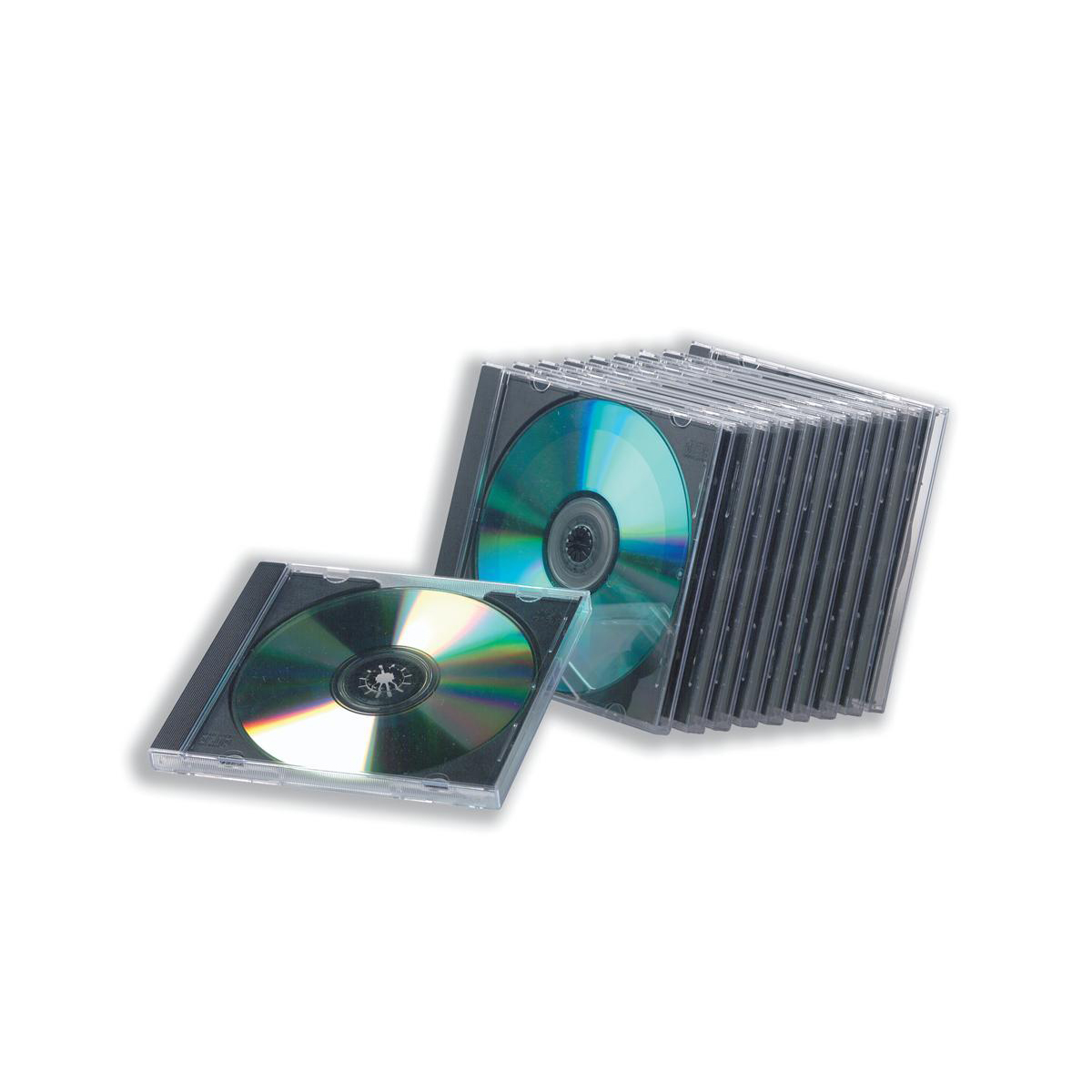 Cases CD Jewel Case with High Impact Protection Plastic Clear Pack 10