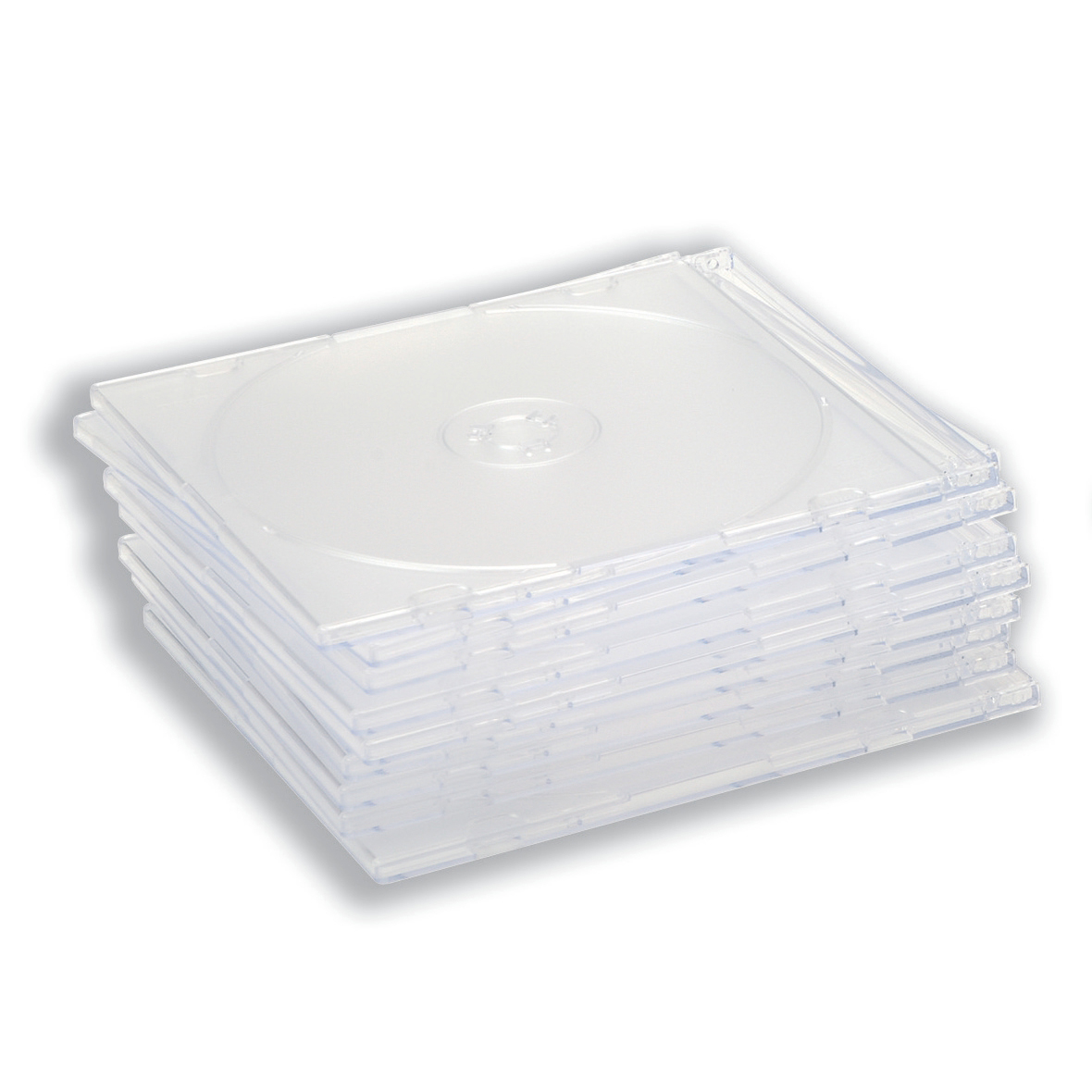 CD Case Slimline Jewel for 1 Disk Clear [Pack 50]