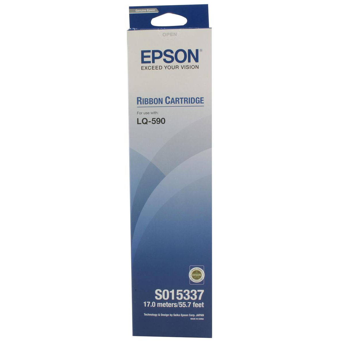 Epson Printer Ribbon Fabric Nylon Black LQ590 Ref S015337