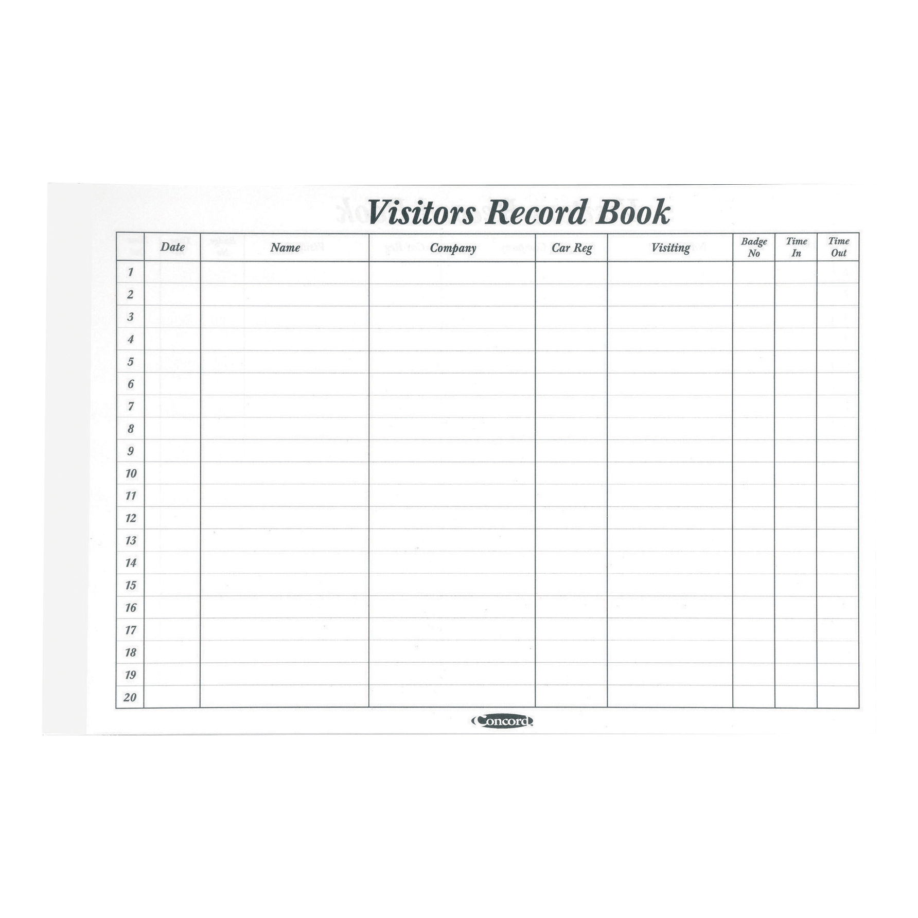 Visitors Books Concord CD14P Refill for Visitors Book 50 Sheets 2000 Entries 230x335mm Ref 85801/CD14P