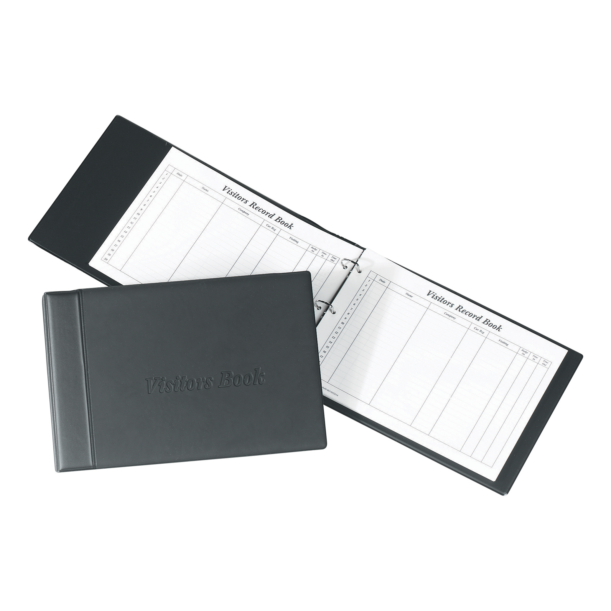 Image for Concord Visitors Book Loose-leaf 3-Ring Binder with 50 Sheets 2000 Entries 230x355mm Black Ref 85710/CD14