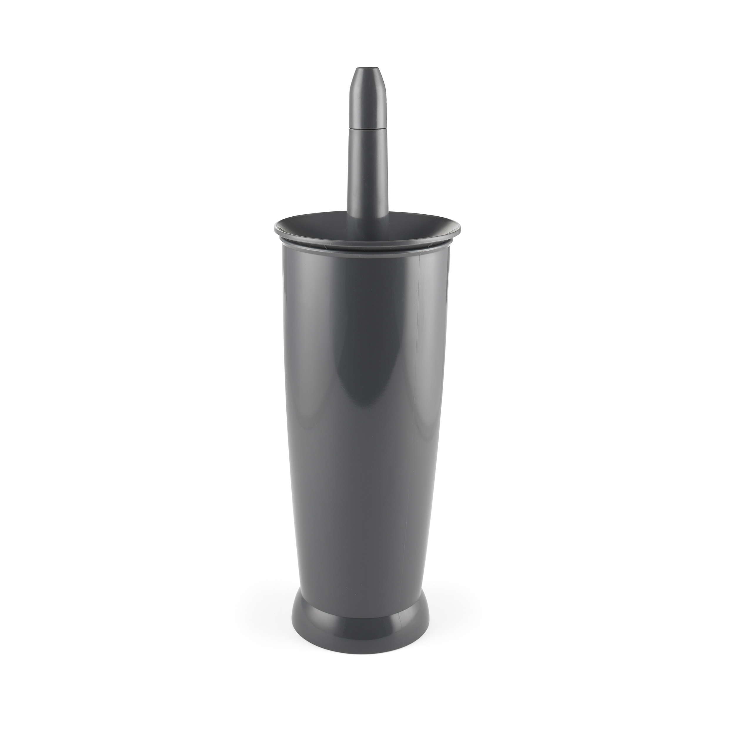 Addis Loo Brush & Closed Base Unit Charcoal Ref 518041