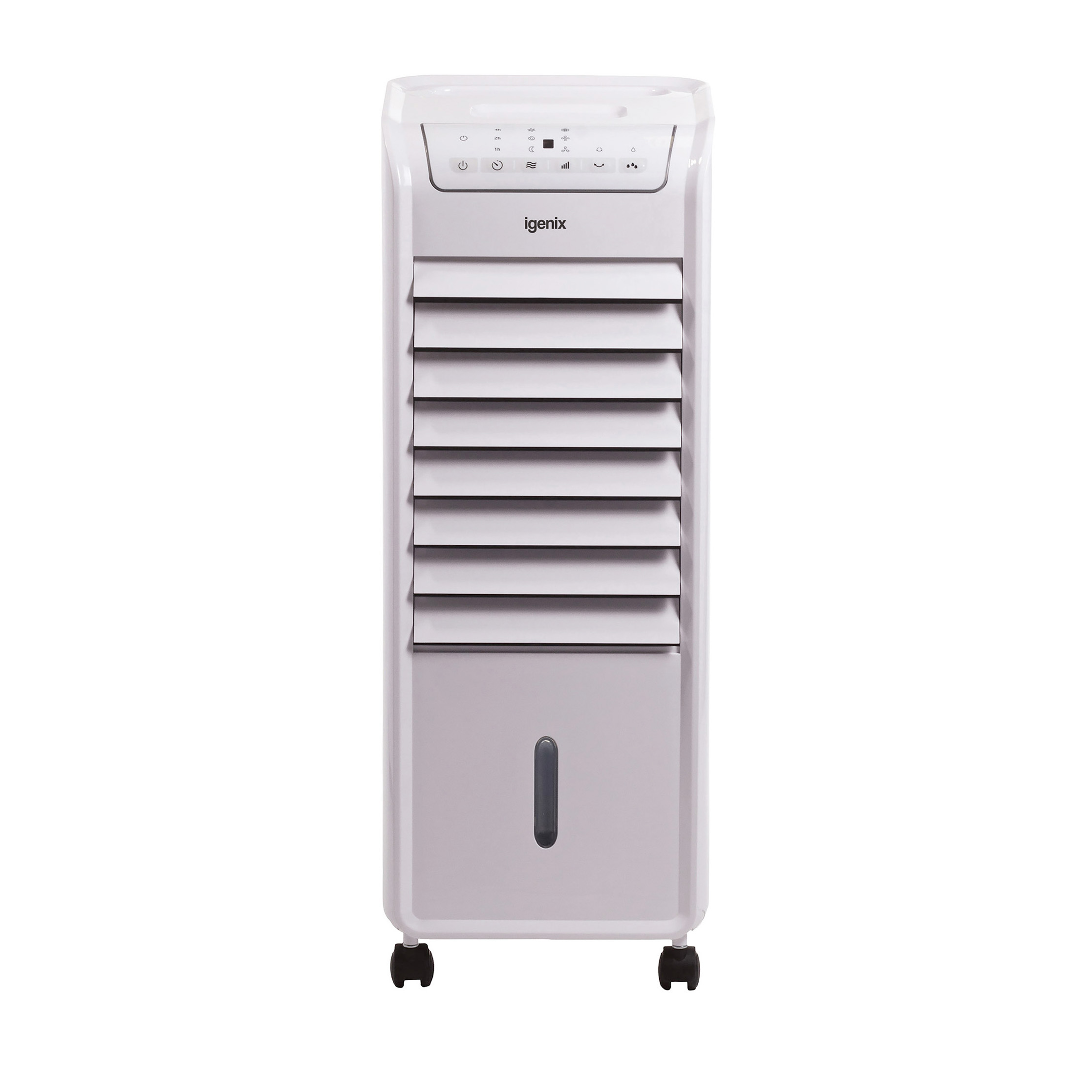 Igenix Air Cooler Portable with Oscillation Function Timer Remote Control 55 Watts White Ref IG9703