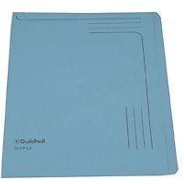 Image for Guildhall Slipfile 230gsm Capacity 50 Sheets A4 Blue Ref 4601Z [Pack 50]