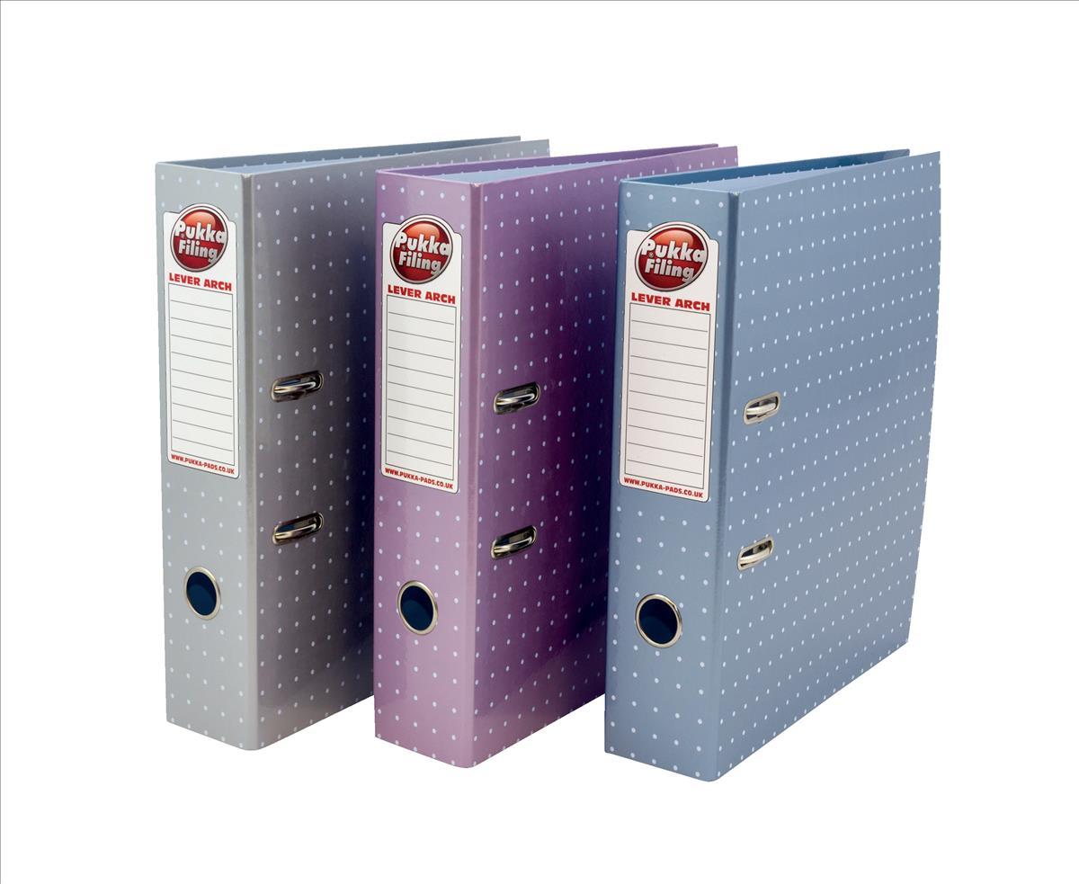 Pukka Metallic Lever Arch File A4 Assorted Ref 6444-MET [Pack 6]